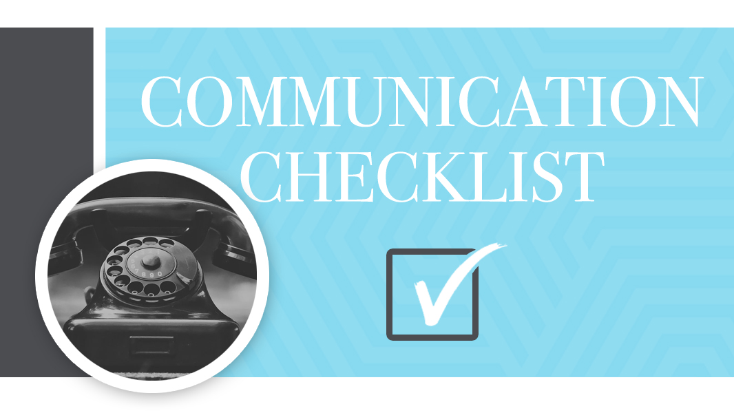 Communication in marriage is tough. Here's a checklist.